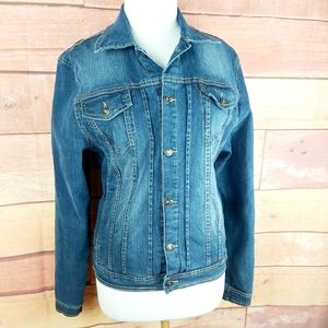 Stretch jeans coat fit like a large